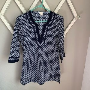 J. Crew Women's Small Patterned Blouse